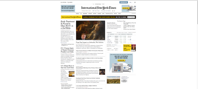New York Times (redesigned)